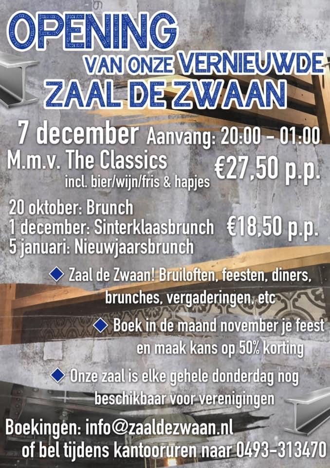 Opening vernieuwde Zaal de Zwaan met The Classics